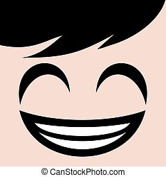 happy smiling face illustration - design of happy smiling...