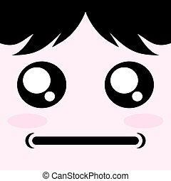 serious face - creative design of serious face