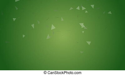 green triangles background - Shot of green triangles...