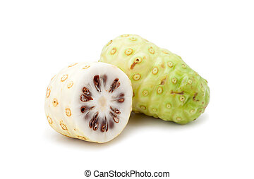 Noni fruit isolated on white background