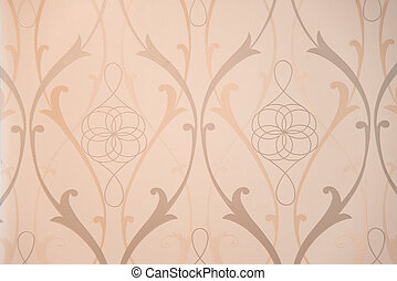 Vintage Pattern Wallpaper Close-up