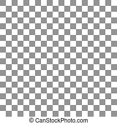 Gray seamless chess background. Vector illustration - Gray...