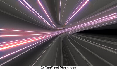 Warp Speed Travel - Looping 4K VJ video animation of warp...