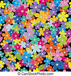 Multicolored floral background