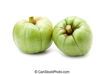 Garcinia Cambogia isolated on white background