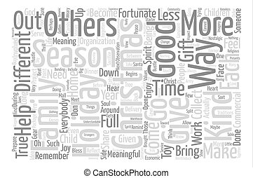 A Different Kind of Christmas Word Cloud Concept Text...
