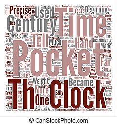 A Brief History Of Pocket Watches text background word cloud concept