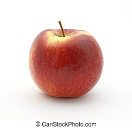 Empire apple on white background - A single empire apple on...