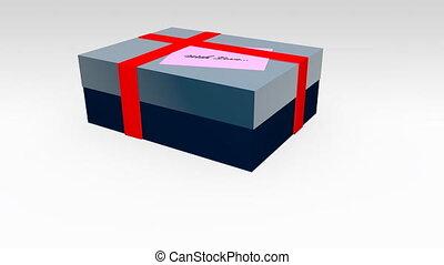 gift box animation - Shot of gift box animation