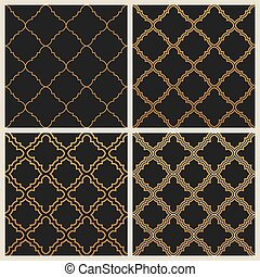Oriental ornate seamless background set in Eastern style