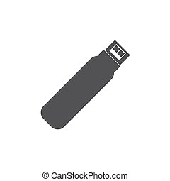 usb memory icon on the white background. Vector illustration