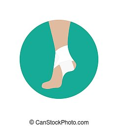 Elastic bandage for the ankle joint
