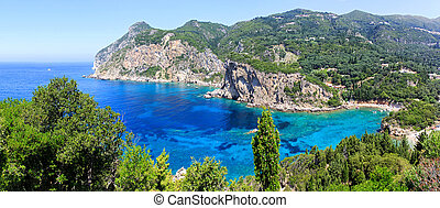 Corfu island and Ionian sea - Beautiful landscape photo of...