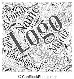 Logotipos, concepto, palabra, mirada, creador, Uno,...