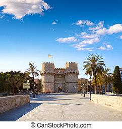 Torres de Serrano towers in Valencia - Torres de Serrano...