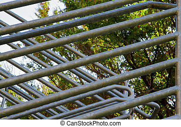 Abstract steel railing - Intersections of steal railing on...