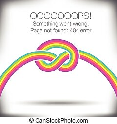Unusual knotted rainbow - 404 error - page not found graphic...