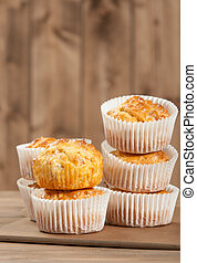 Homebaked Ham And Cheese Muffins In Paper Cases. - Homebaked...