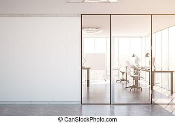 Modern office interior toning - Contemporary simple office...
