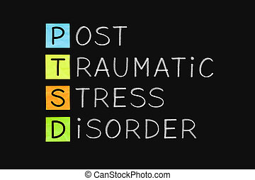 Post Traumatic Stress Disorder PTSD - PTSD acronym Post...