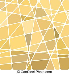 abstract vector stained-glass mosaic background - yellow and...