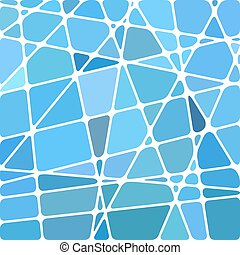 abstract vector stained-glass mosaic background - blue and...