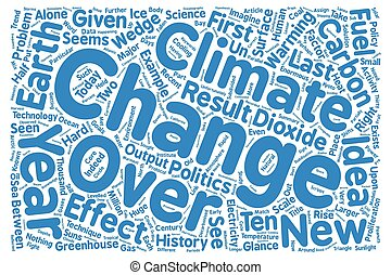 A new science for a new climate text background word cloud concept