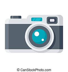 Retro Camera Vector Icon - Vintage camera or retro camera,...