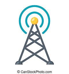 Transmitter tower icon - Transmitter tower or antenna,...