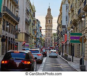 Calle de la Paz street of Valencia in Spain