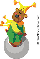 Bear with ball color 11