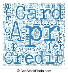 About APR Credit Cards Word Cloud Concept Text Background
