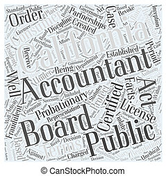 About the California Board of Accountancy Word Cloud Concept
