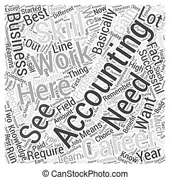 Accountancy Career The Reasons Why You Should Choose Accounting Word Cloud Concept