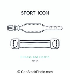 Belt for back protection and expander. - Sports equipment...