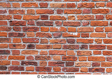 Old aged red brick wall texture background. - Old aged red...
