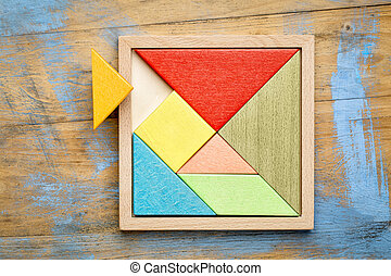 tangram - Chinese puzzle game - Tangram, a traditional...
