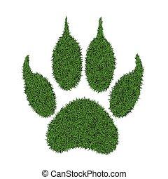 Grass footprint