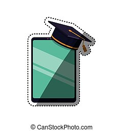 Elearning online education icon vector illustration graphic...