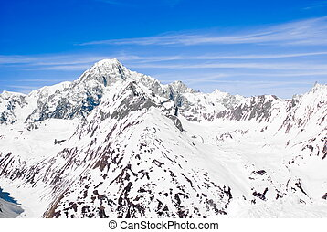 Mont Blanc - View of Mont Blanc from Italian side