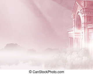 Magical Pink Sky - Background