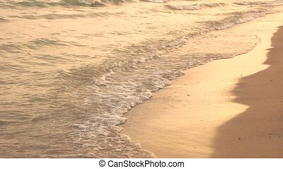 Small wave on the shore. Sea and sunshine. Place for summer...