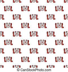 Laughing Out Loud Emoji Pattern