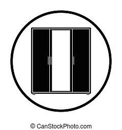 Wardrobe with mirror icon