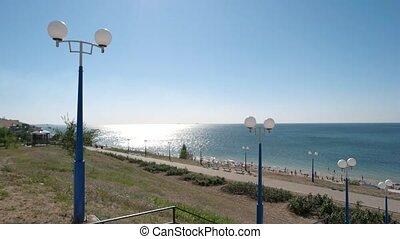 Seaside promenade. Sea zone for rest and walk.