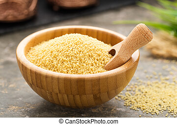 Couscous - fresh cooked couscous with mint