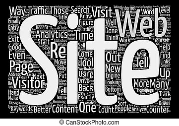 Analyze This Web Analytics Word Cloud Concept Text...