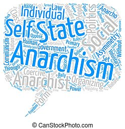 Anarchism for a Post modern Age text background wordcloud...
