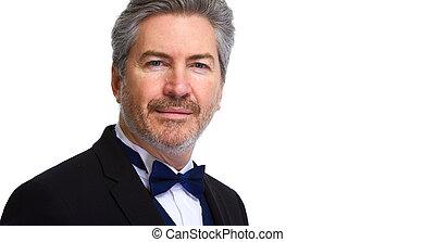 Businessman portrait - Handsome mature business man portrait...