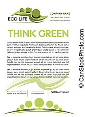 Green or eco nature company vector poster